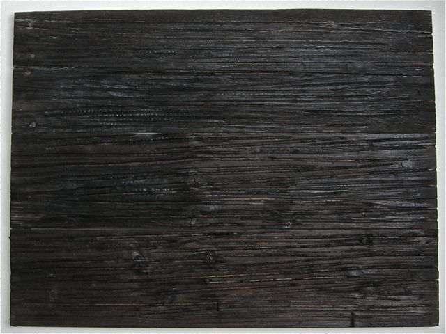 Rhythm, 2014, flamed wood, iron