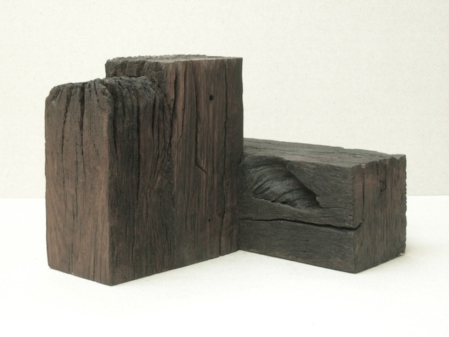 Sharp edged turn, 2009, oak, height 40 cm