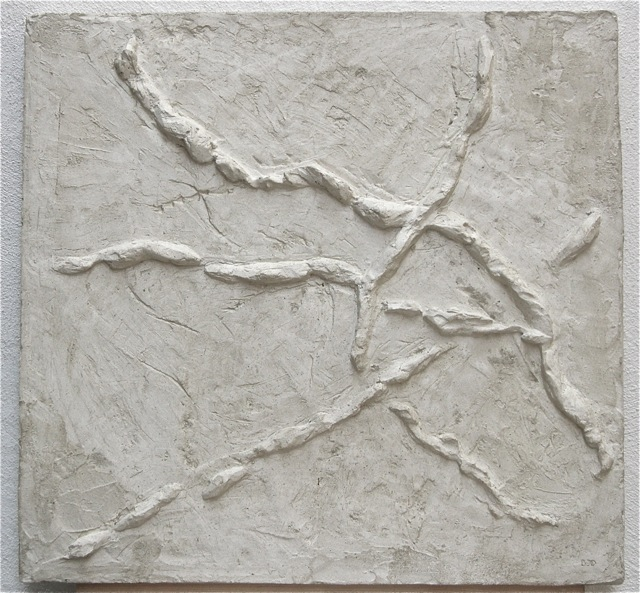Traces, 2013, relief, gypsum and wax, 67 x 65 cm